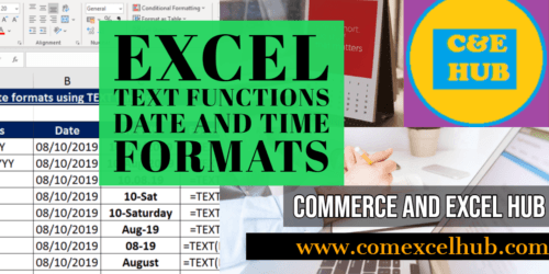 Commerce and Excel Hub | Learn Excel Along With Accounts
